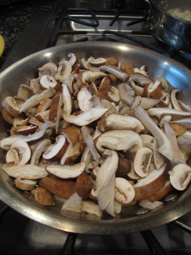 Do not salt or stir mushrooms as they cook.