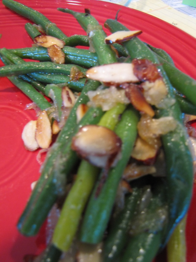 Garden-grown green beans as the star of dinner!