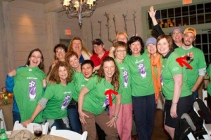 Could not believe that I didn't have a picture of Shawna and I, but here is a group shot from Garden2Blog where arrows pointing to us.