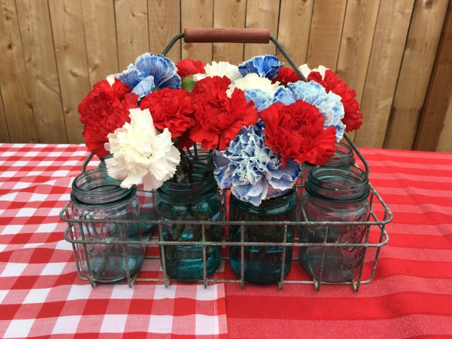 4th Mason Jar Centerpiece