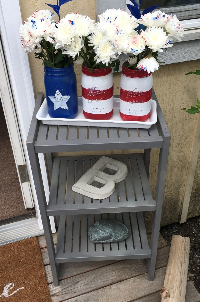 Mason Jar Flag Craft